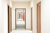 Corridor and doorframe, perspective