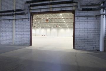 Access door to empty warehouse