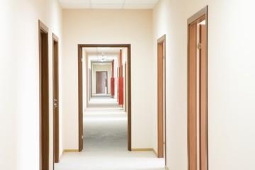 Corridor and doorframe, perspective