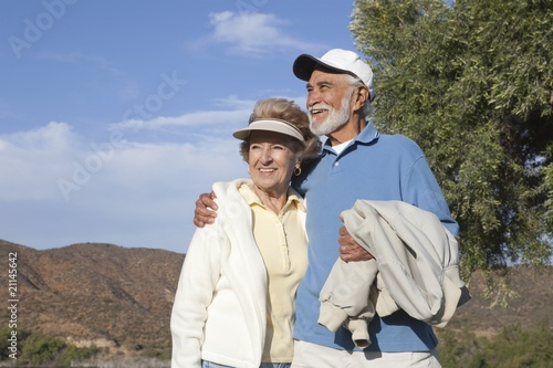Senior couple in the great outdoors