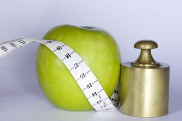 poids et pomme