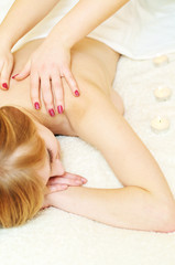 massage in spa salon