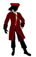 Captain Hook Silhouette Illustration