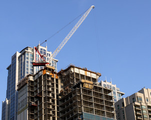 modern high rise apartment building construction