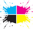 Cmyk splash vector illustration