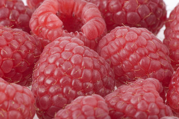 Background from raspberry berries