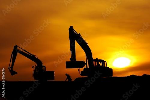 工事現場のシルエット