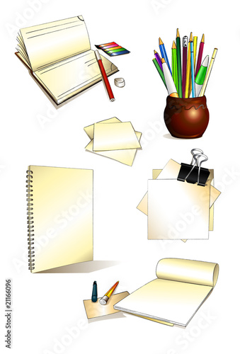 Office set_drawing_sketch