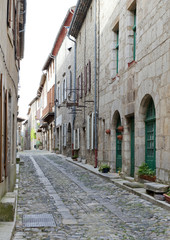 Side street in Lagrasse Medievel Village France