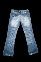 Blue denim jeans