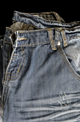 Close up of jeans