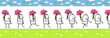 walking character & flowers for animated sprite