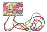 Colorful cassette tape