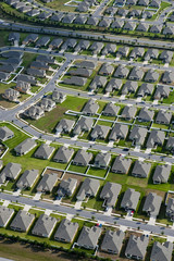 Aerial view of houses in typical home community