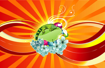 composicion de iguana en vector