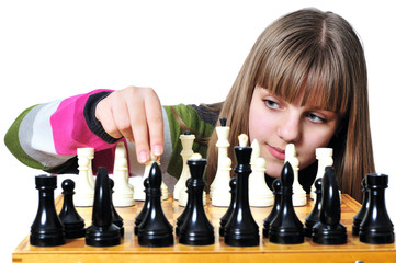teen with chess