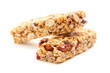 Two Granola Bars Isolated on White - 21176863