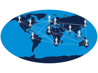 Global communication network vector