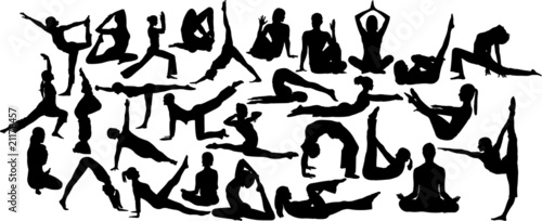 yoga 2 collection of vector silhouettes