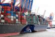 Container Schiffe im Hafen