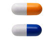 Two pill shaped anti-stress toys