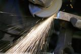 Metalwork - Sparks from a grinder. poster