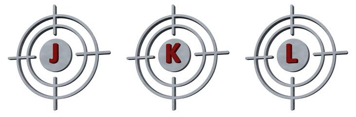 target j, k and l