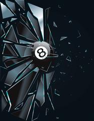Broken Glass 8 Ball