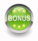 'Bonus' glossy icon poster