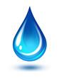 Leinwanddruck Bild - Water drop