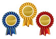 Award rosette medal set