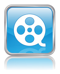 CINEMA web button (review film online culture arts vector)