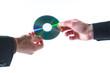 Leinwanddruck Bild - Daten-CD