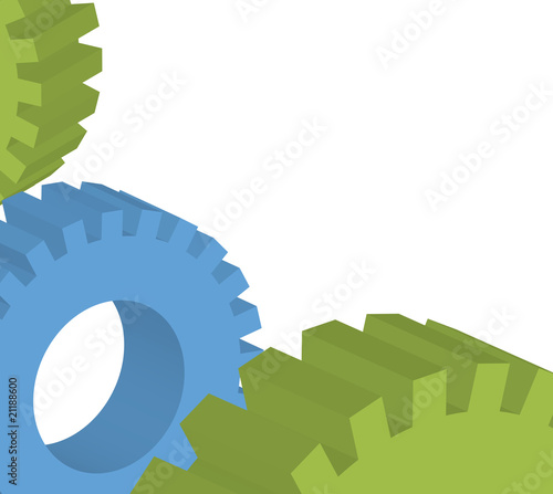 Cogwheels and gear vector background - business network concept