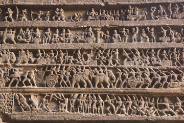 Ancient Hindu Temple Carving at Ellora Caves