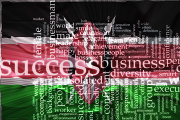 Flag of Kenya wavy success