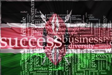 Flag of Kenya wavy success