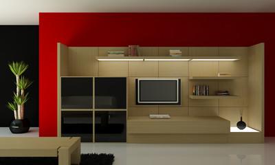 interno 3d mobile tv