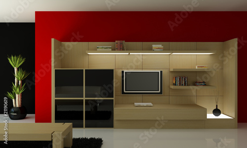 interno 3d mobile tv