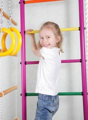 cute little girl at the playground