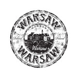Fototapety Warsaw grunge rubber stamp