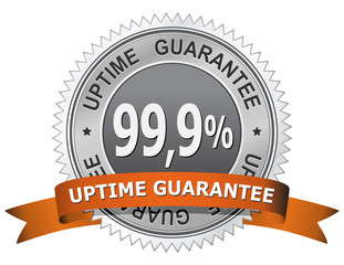 99,9 % Uptime Guarantee Sign