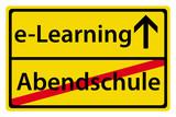 e-Learning statt Abendschule poster
