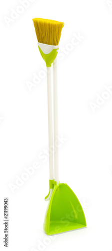 Cleaning broom isolated on the white background