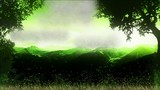 Video motion background, green nature.