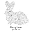 Easter Rabbit BW