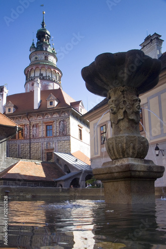 Chateau Tower in Cesky Krumlov, Czech Republic