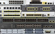 Telecommunication equipment. Ethernet ports of router, switch
