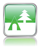 CAMPSITE web button (square camping travel park nature vacation) poster