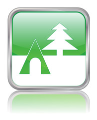 CAMPSITE web button (square camping travel park nature vacation)